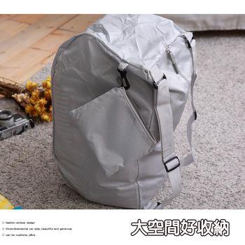 旅行收納三用背包-銀白