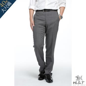 【NST Jeans】391(6937) 极致直横交织 浅灰羊毛西装裤 (中腰) 平面/无打折/年轻款式