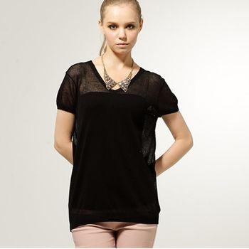【KIINO】素色透膚感長版慵懶時尚款針織衫 0111-1628