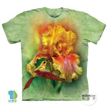 【摩達客】(預購)(中大尺碼)美國進口The Mountain 蜂鳥與花 純棉環保短袖T恤