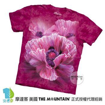 【摩達客】(預購)美國進口The Mountain 嬰粟美人花 純棉環保短袖T恤
