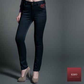 【KIINO】纖型設計微彈力直筒褲(3852-3026)