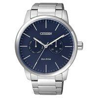 CITIZEN Eco-Drive 光動能日曆腕錶-藍/44mm AO9040-52L