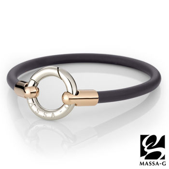 DECO X MASSA-G Glamour魅力經典鍺鈦能量腳環-玫瑰金