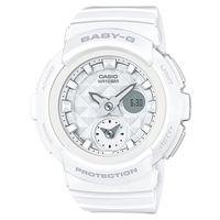 【CASIO】BABY-G 魅力無限時尚穿搭鉚釘風格休閒錶-白色 (BGA-195-7A)
