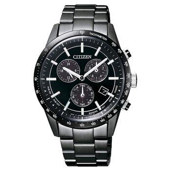 CITIZEN 光動能40週年 限量計時錶-黑/40mm BL5495-56L