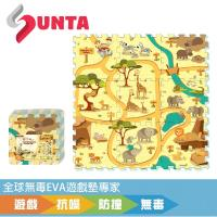 《SUNTA拼接樂扣墊》動物樂園 EVA樂扣遊戲墊-32*32*1cm(9片裝)