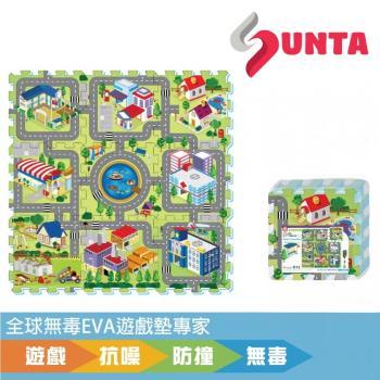 《SUNTA拼接樂扣墊》歡樂城市 EVA樂扣遊戲墊-32*32*1cm(9片裝)