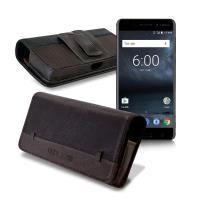 CB Nokia 6 / 小米Note 2 / 紅米Note 4X / A7(2017) 品味柔紋橫式腰掛皮套
