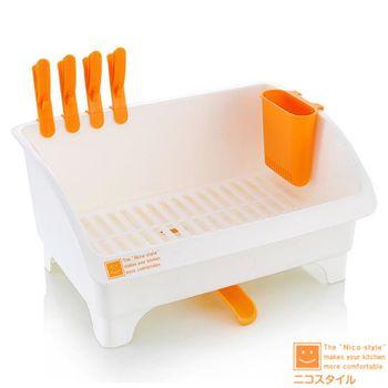 日本製造 多功能收納碗盤滴水架IN-0082