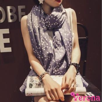 【Verona】復古星星超長棉麻絲巾圍巾披肩