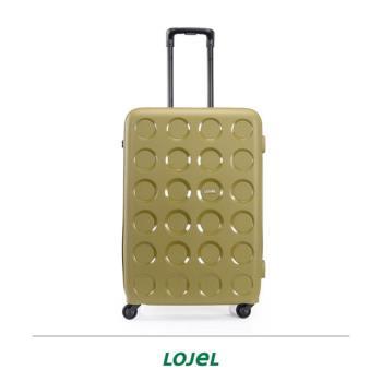 CROWN LOJEL VITA系列 多色 圓圈 拉鍊 旅行箱 28吋 行李箱 PP10-28