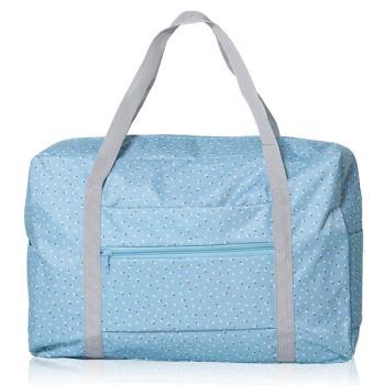 【韓版】420D加密防水小清新印花加厚拉桿收納袋(4色)