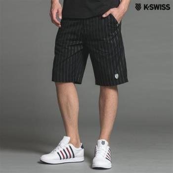 K-Swiss Stripe Woven Shorts運動短褲-男-黑