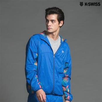K-Swiss Sub PT Woven Hoodie風衣外套-男-藍
