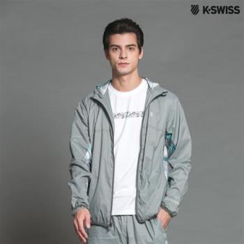K-Swiss Sub PT Woven Hoodie風衣外套-男-灰