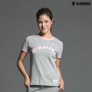 K-Swiss KS Puff Print Tee印花短袖T恤-女-灰