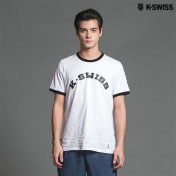 K-Swiss KS Puff Print Tee印花短袖T恤-男-白