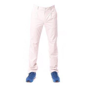 【hilltop山頂鳥】男款超潑水抗UV彈性合身長褲S07MA1-卡其