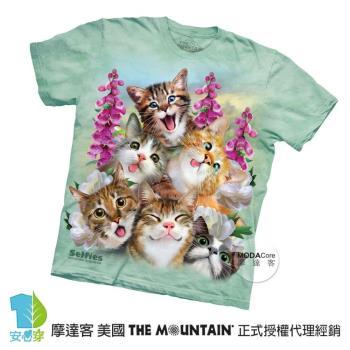 【摩達客】(預購)(大尺碼4XL/5XL)美國進口The Mountain 貓咪哦耶 純棉環保短袖T恤