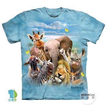 【摩達客】(預購)(大尺碼4XL/5XL)美國進口The Mountain 非洲草原動物哦耶 純棉環保短袖T恤