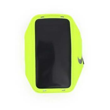【NIKE】輕量手機萬用臂包-慢跑 路跑 手機包 5.7吋螢幕適用 螢光黃