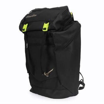 【MIZUNO】GE背包-附可拆卸提袋  雙肩包 後背包 旅行包 美津濃 黑芥末綠