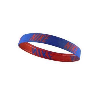 【NIKE】LOGO髮帶-頭帶 慢跑 路跑 有氧 瑜珈 藍紅