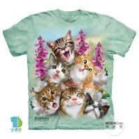 【摩達客】(預購)( 男童/女童裝)美國進口The Mountain 貓咪哦耶 純棉環保短袖T恤