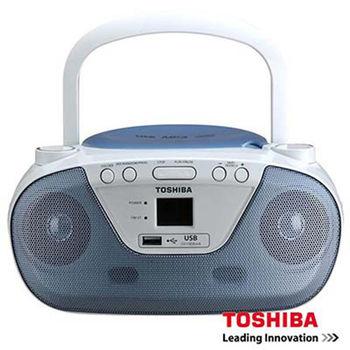 【TOSHIBA 東芝】藍色手提式CD音響 TY-CRU8TW(L)
