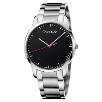 Calvin Klein CK City 極簡都會腕錶-黑/43mm K2G2G141