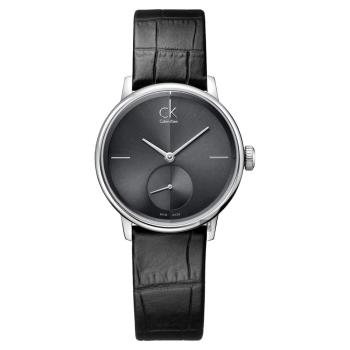 Calvin Klein CK Accent 小秒針女錶-黑/32mm K2Y231C3
