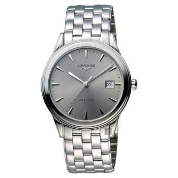 LONGINES Flagship 經典純粹機械腕錶-灰/38.5mm L48744726