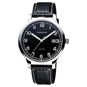 LONGINES Heritage Military 1938 軍用機械腕錶-黑/40mm L27884530