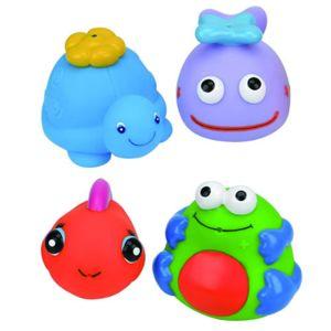【K's Kids 奇智奇思】動物造型洗澡玩具組(4入組)