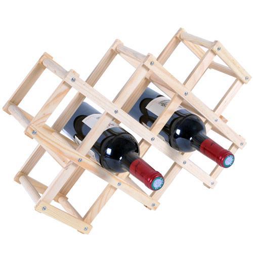 《WSH》原木簡易紅酒架