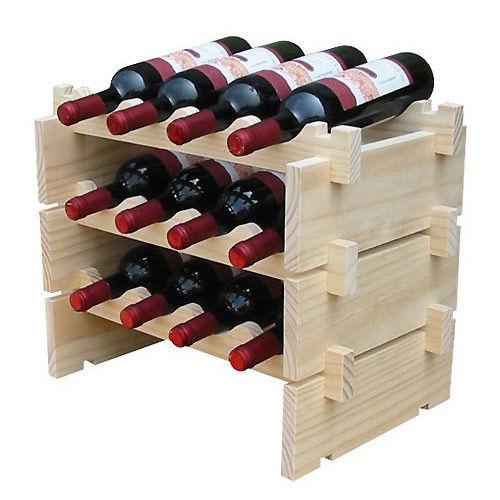 《WSH》可堆疊紅酒架(三組入)