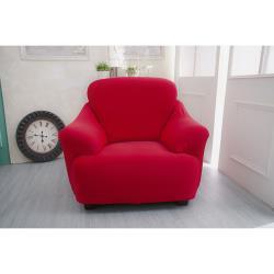 Osun-一體成型防蹣彈性沙發套/沙發罩_1人座 素色款 富貴紅