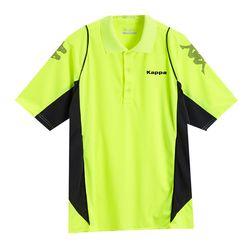 KAPPA 義大利型男吸濕排汗速乾KOOL-DRY POLO衫 螢光黃 深灰底炭灰點A262-2091-2