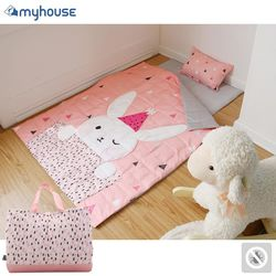 【BabyTiger虎兒寶】MYHOUSE 韓國防蟎抗敏派對動物兒童睡袋 - 兔子梅莉莎