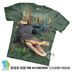 【摩達客】(預購)美國進口The Mountain 大鱷魚 純棉環保短袖T恤