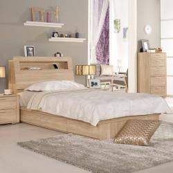 Boden-裴拉3.5尺單人床組(床頭箱+床底)(不含床墊)