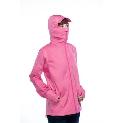 囗罩連帽式吸濕排汗抗UV外套