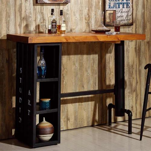 【AT HOME】庫克4.6 尺貨櫃造型吧台桌