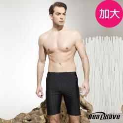 Heatwave熱浪 加大男泳褲 七分馬褲-黑騎士-222