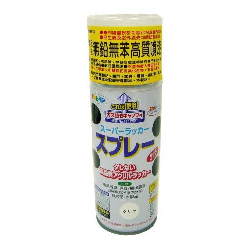 日本製室內外鐵製品無鉛苯高質噴漆300ml-透明/