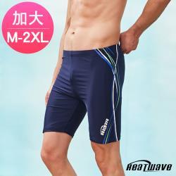 Heatwave熱浪 加大男泳褲 七分馬褲-汪洋波350
