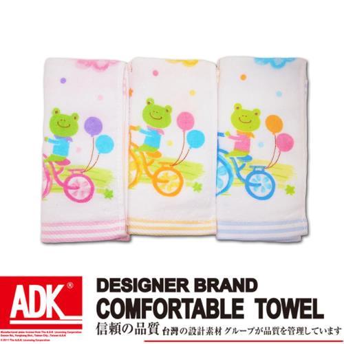 ADK-青蛙印花童巾(12件組)