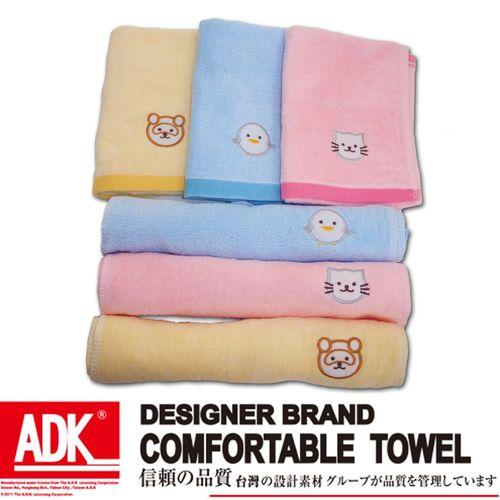 ADK-剪絨繡動物童巾(12件組)