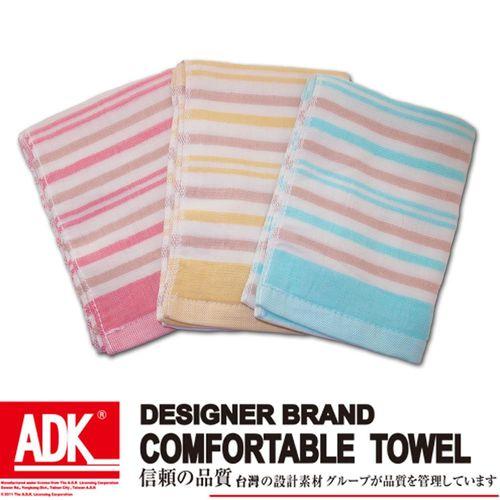 ADK-彩條紗布童巾(12件組)